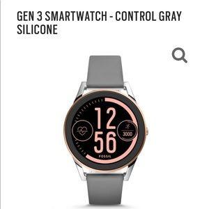 Fossil Gen 3 Smartwatch - Control Gray Silicone